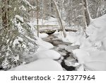 Munising Creek in winter Michigan