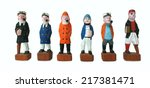 wooden dolls  ship crew crafted ... | Shutterstock . vector #217381471