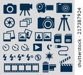 camera icons | Shutterstock .eps vector #217387924