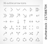 set of outline arrow icons.... | Shutterstock .eps vector #217388704