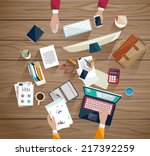 business meeting and...   Shutterstock .eps vector #217392259
