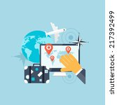 balloon icon. world travel... | Shutterstock . vector #217392499