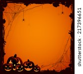 grunge halloween background... | Shutterstock .eps vector #217396651