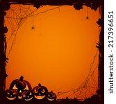 grunge halloween background... | Shutterstock .eps vector #217396651