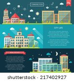 set of vector flat design... | Shutterstock .eps vector #217402927