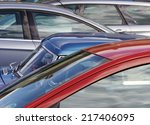 telephoto view of cars parked... | Shutterstock . vector #217406095