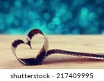heart shaped made from retro... | Shutterstock . vector #217409995