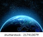 Planet Earth Seen From Space A...