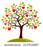 Vector Heart Tree Isolated On...