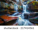Постер, плакат: Tropical waterfall Popokvil Waterfall