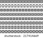 set of eight black illustrated... | Shutterstock .eps vector #217414669