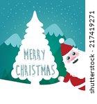 merry christmas landscape.... | Shutterstock .eps vector #217419271