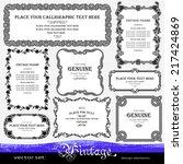 vintage floral frames and... | Shutterstock .eps vector #217424869