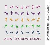 arrow sign icon set vector...