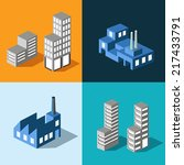 the set of vector buildings... | Shutterstock .eps vector #217433791