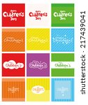 a set of colored backgrounds... | Shutterstock .eps vector #217439041