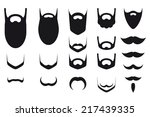 set of beard and mustache... | Shutterstock .eps vector #217439335