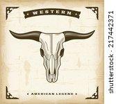 Vintage Western Bull Skull....