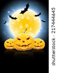 background for halloween party... | Shutterstock .eps vector #217444645