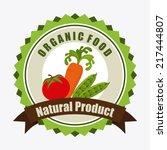organic food label  vector... | Shutterstock .eps vector #217444807