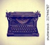 typewriter   Shutterstock . vector #217446787