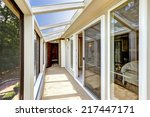 bright screened deck with... | Shutterstock . vector #217447171