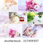 wedding collage | Shutterstock . vector #217459357