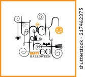 trick or treat happy halloween... | Shutterstock .eps vector #217462375