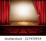 background with red velvet... | Shutterstock .eps vector #217470919