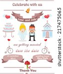 wedding invitation card with... | Shutterstock .eps vector #217475065