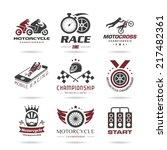 motorcycle racing icon set   2 | Shutterstock .eps vector #217482361