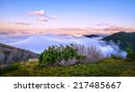 above the clouds mountain... | Shutterstock . vector #217485667
