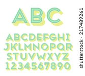 handmade sans serif font. bold... | Shutterstock .eps vector #217489261