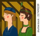 art deco ladies | Shutterstock .eps vector #217490239