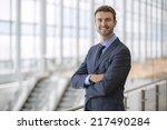 portrait of happy businessman... | Shutterstock . vector #217490284