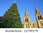Christmas Tree And Church