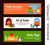 india style travel culture... | Shutterstock .eps vector #217492651