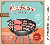 bbq grill party best choice... | Shutterstock .eps vector #217493014