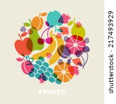 color fruits icon. food sign.... | Shutterstock . vector #217493929