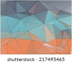abstract geometric background... | Shutterstock .eps vector #217495465