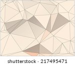 abstract geometric background... | Shutterstock .eps vector #217495471