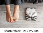Soft Photo Of Woman Feet With...