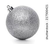 silvertmas ball isolated on... | Shutterstock . vector #217500421