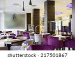 hotel lobby and cafe interior | Shutterstock . vector #217501867