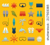 set of summer tourism icons | Shutterstock . vector #217503385