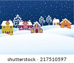 Winter Background With Cartoon...