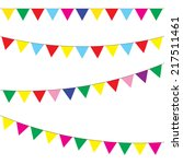 bunting and garland set.... | Shutterstock .eps vector #217511461