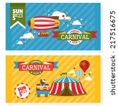 country fair vintage invitation ... | Shutterstock .eps vector #217516675