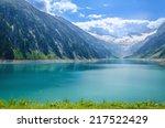 amazing view of alpine lake... | Shutterstock . vector #217522429