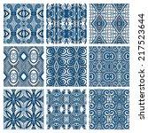 set of different seamless... | Shutterstock . vector #217523644